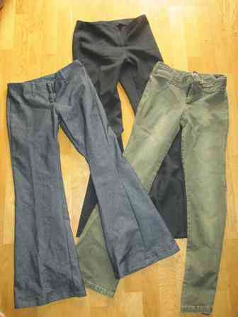 3 pantalones mujer talla 36 - 38 ( leojanni)