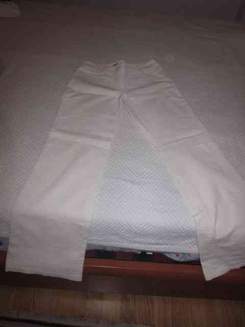 Pantalon blanco de pana formula joven (maggota)