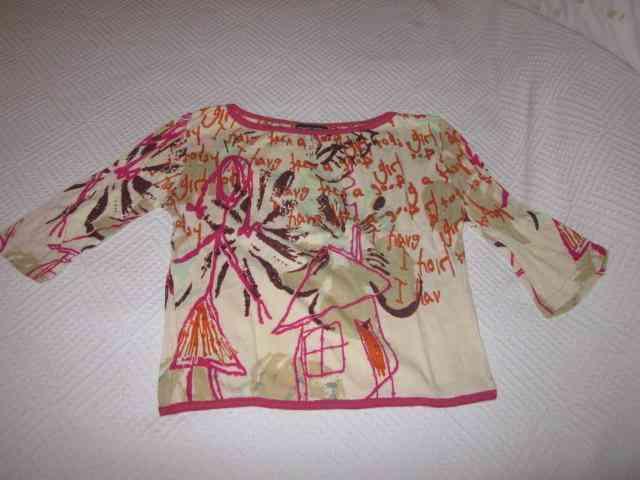 Camiseta estampada talla s (maggota)