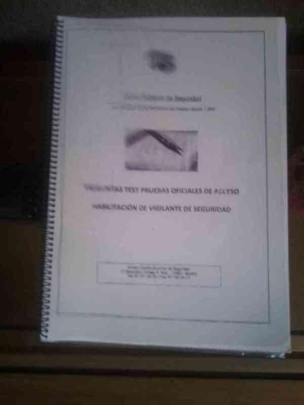 Libro de test de vigilante de seguridad