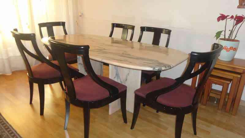 gift - Regalo mesa de mármol para comedor y 6 sillas - Barcelona ...