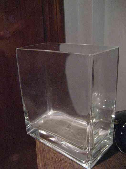 Florero cuadrado cristal