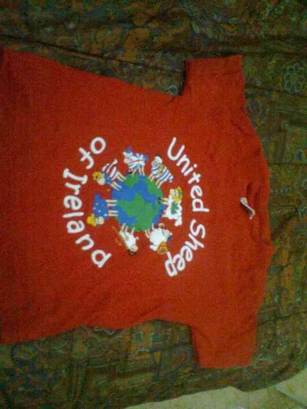 Camiseta manga corta roja   nene  barcelona