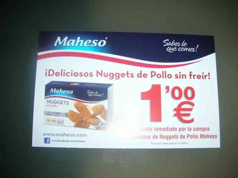 Vale descuento 1 € nuggets maheso