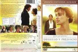 """Dvd """"orgullo y prejuicio"""""""