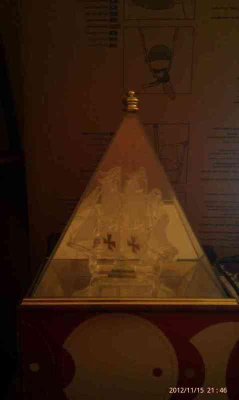 Barco de cristal muy bonito
