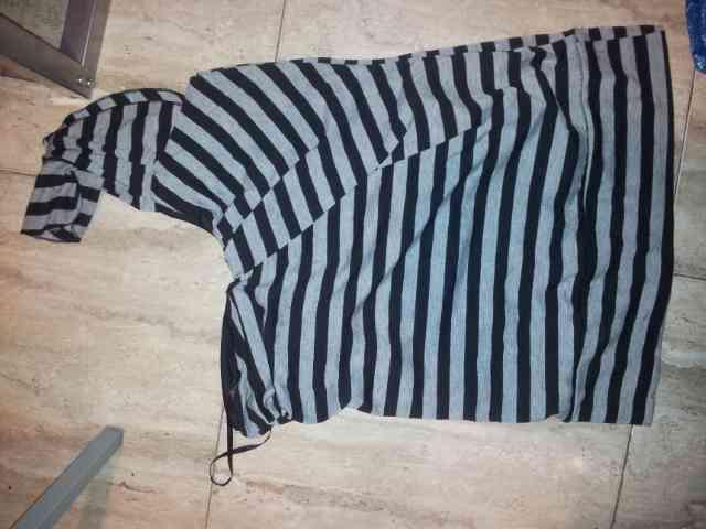 Camiseta mujer una manga rayas (criss30)