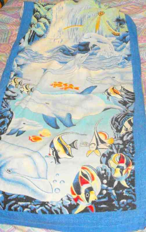 Toalla playa delfines-madraza