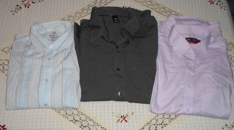 Tres camisas de vestir talla m a mariluz