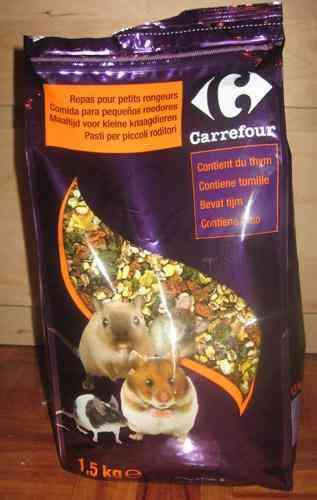Comida para pequeños roedores 1kg aprox