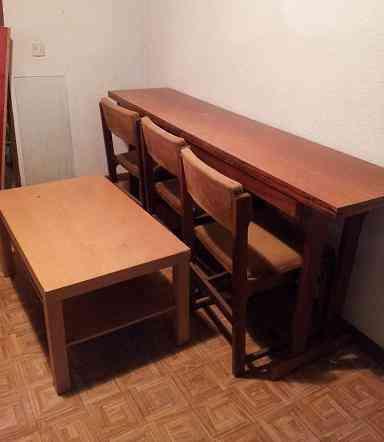 Regalo mesa libro, sillas y mesa de centro