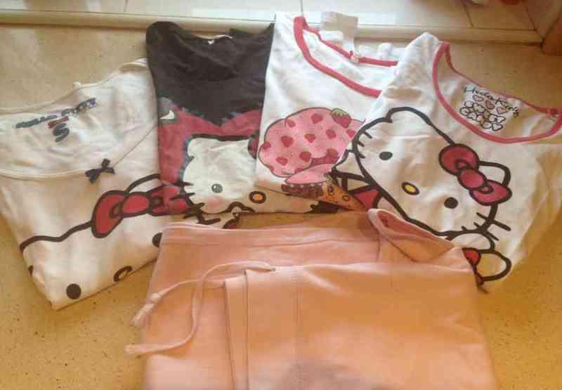 4 camisetas y pantalon algodon