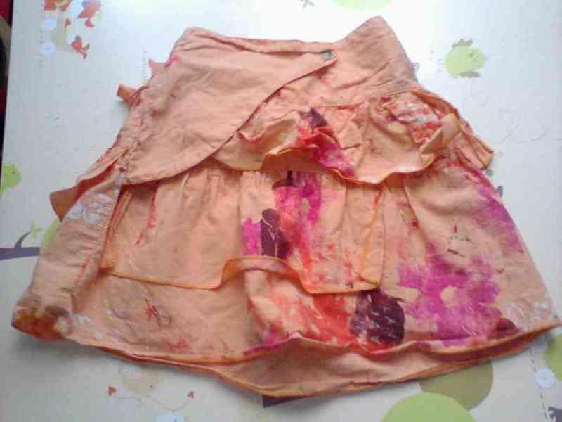 Falda naranja 2 años