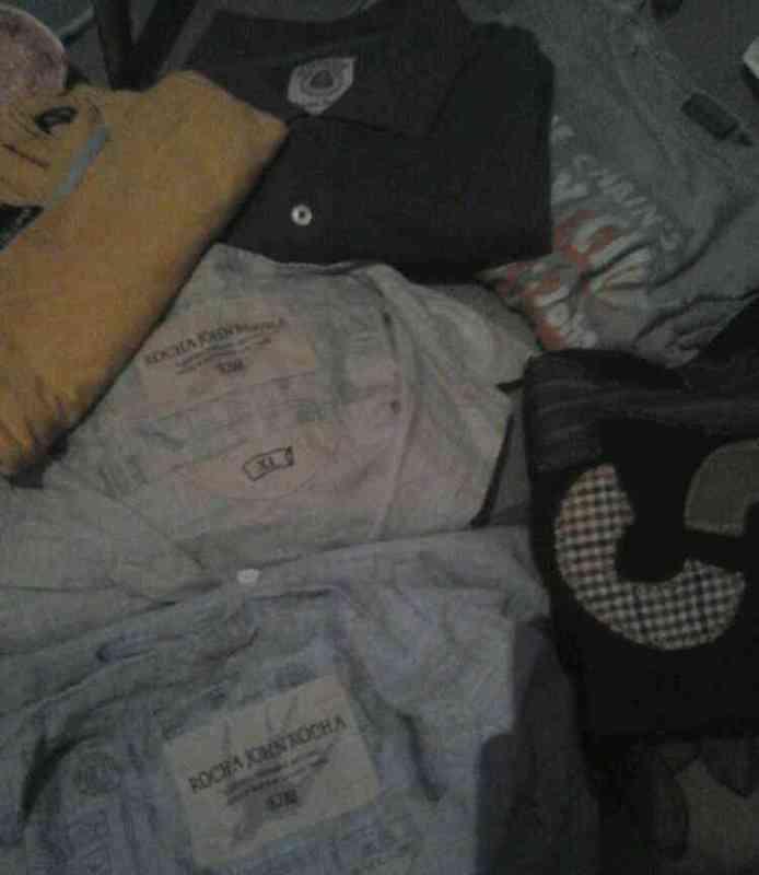 Lote de seis camisas