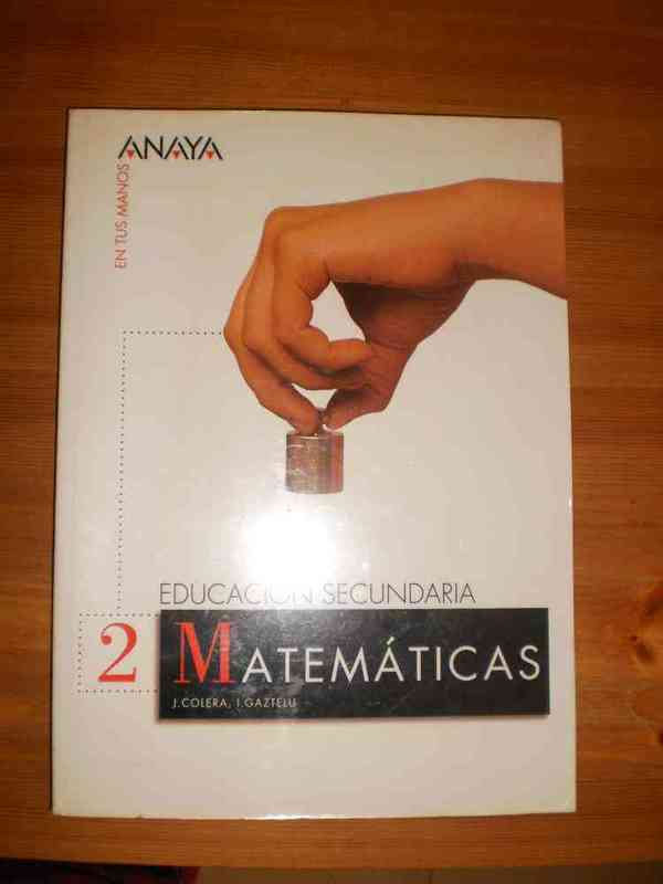 Libro de texto matematicas 2 eso