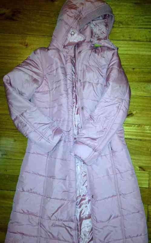 Anorak largo rosa s