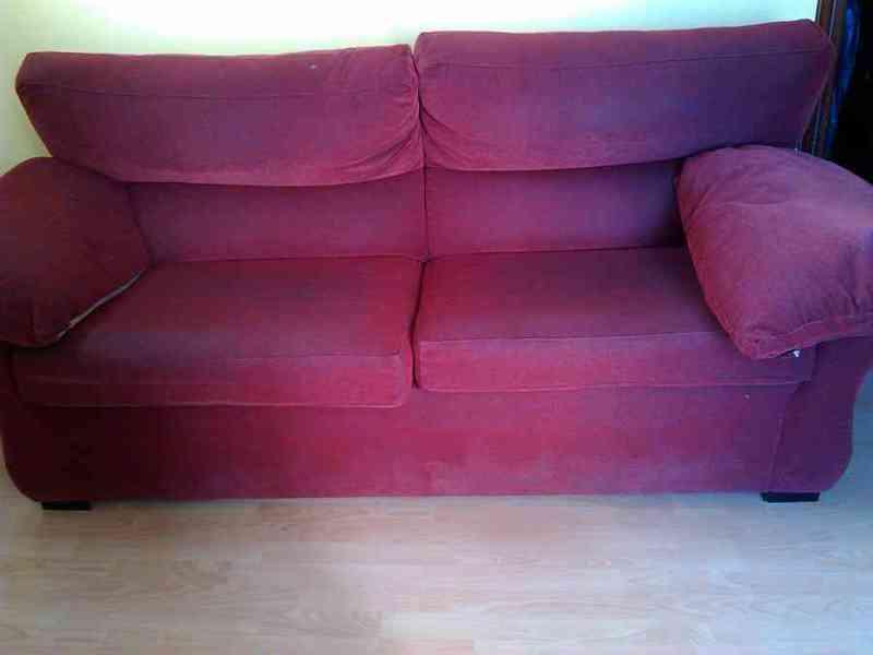 Sofá cama color rojo