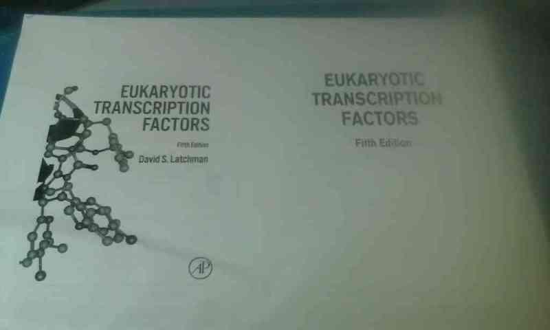 """Libro """"Eucaryotic Transcription Factors"""" fotocopiado"""