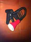 Lampara pinza negra y roja