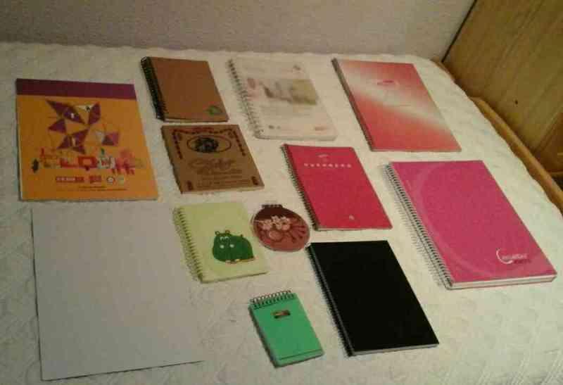 Regalo lote de cuadernos, libretas y blocks de notas