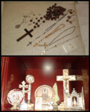 Regalo lote de objetos y souvenirs religiosos