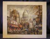 Lámina de la Plaza del Tertre de París (a Rosi de Alamillo)
