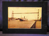 Cuadro con fotografía del Puente Vizcaya (Guecho, a Rosi de Alamillo)