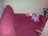 Sofa chais long rojo