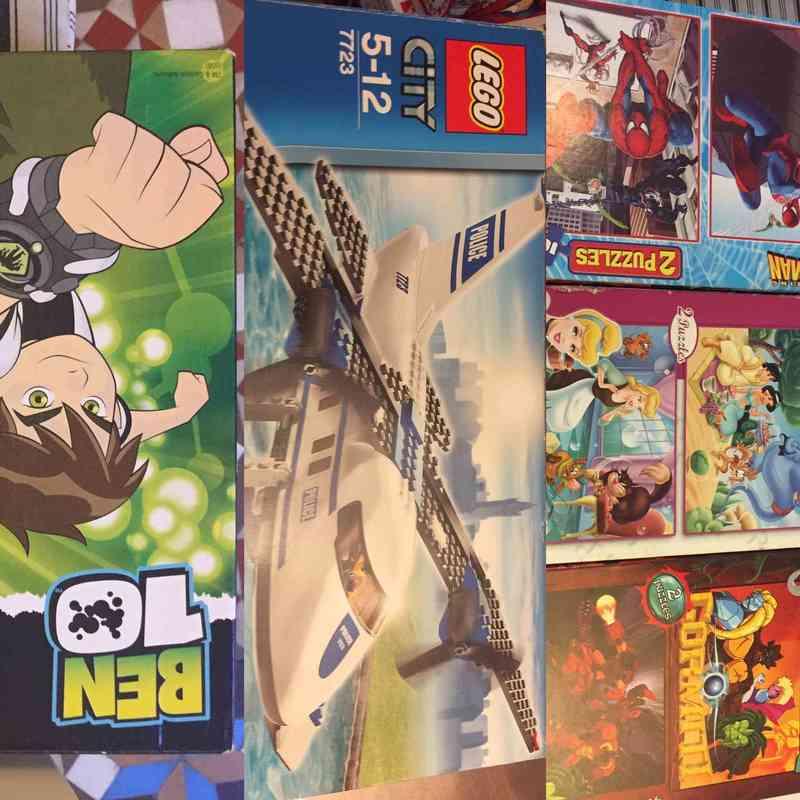Gift 3 Puzles Avion Lego Y Juego De Mesa Ben 10 Barcelona