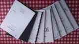 Nueve partituras encuadernadas para piano solo o con otros instrumentos