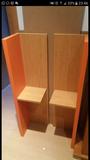 Prestatges color fusta i taronges