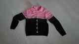 Chaqueta de punto negra y rosa. Talla L