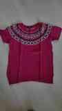 Jersey rosa, manga corta, talla XL
