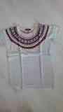 Jersey color crudo, manga corta, talla XL