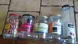 tarros de vidrio mermelada  y varios
