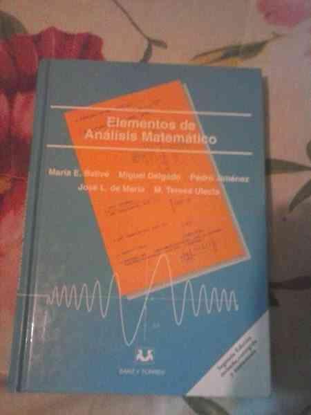 Libro de texto Elementos de Analisis Matematico