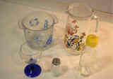 Útiles de cocina de vidrio diversos