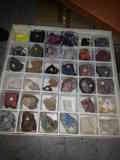 Colección 36 minerales grandes catalogados