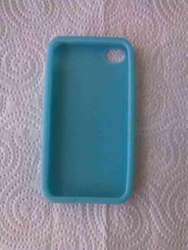 funda de silicona azul teléfono