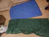 2 sacos de dormir con cremallera
