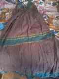Vestido largo marrón