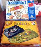 Ruleta infantil y enciclopedia electrónica