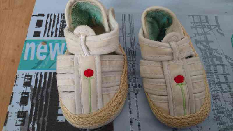 Zapato bebé tela