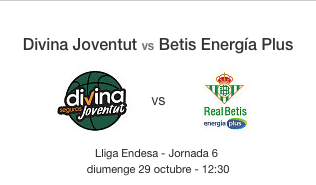 Entradas para el baloncesto Joventut Badalona -Betis