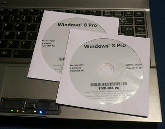 DVD Windows 8 Pro OEM Toshiba