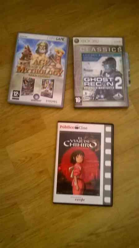 videojuegos y dvd