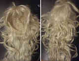 Peluca rubia de pelo sintético