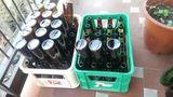 66 botellas de cerveza vacías
