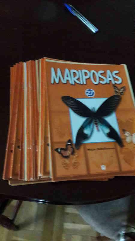 Fascículos de colección de mariposas