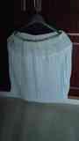 Falda blanca con tablas, talla XL